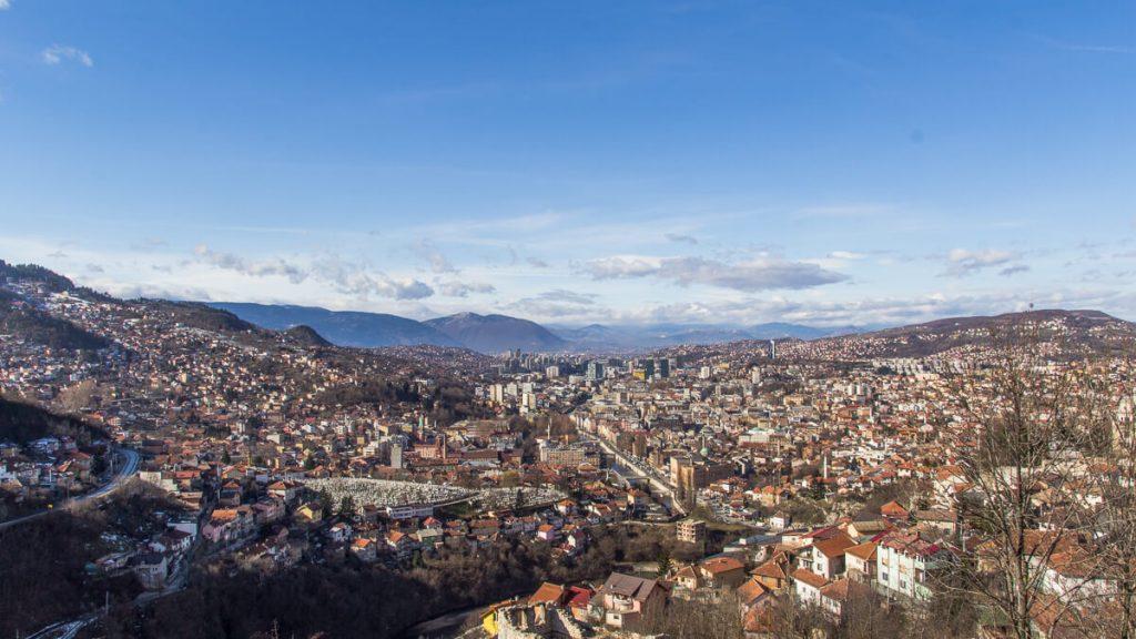 Sarajevo - het witte fort - bijela tabija