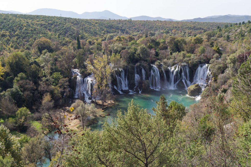 Kravica watervallen - voorjaar