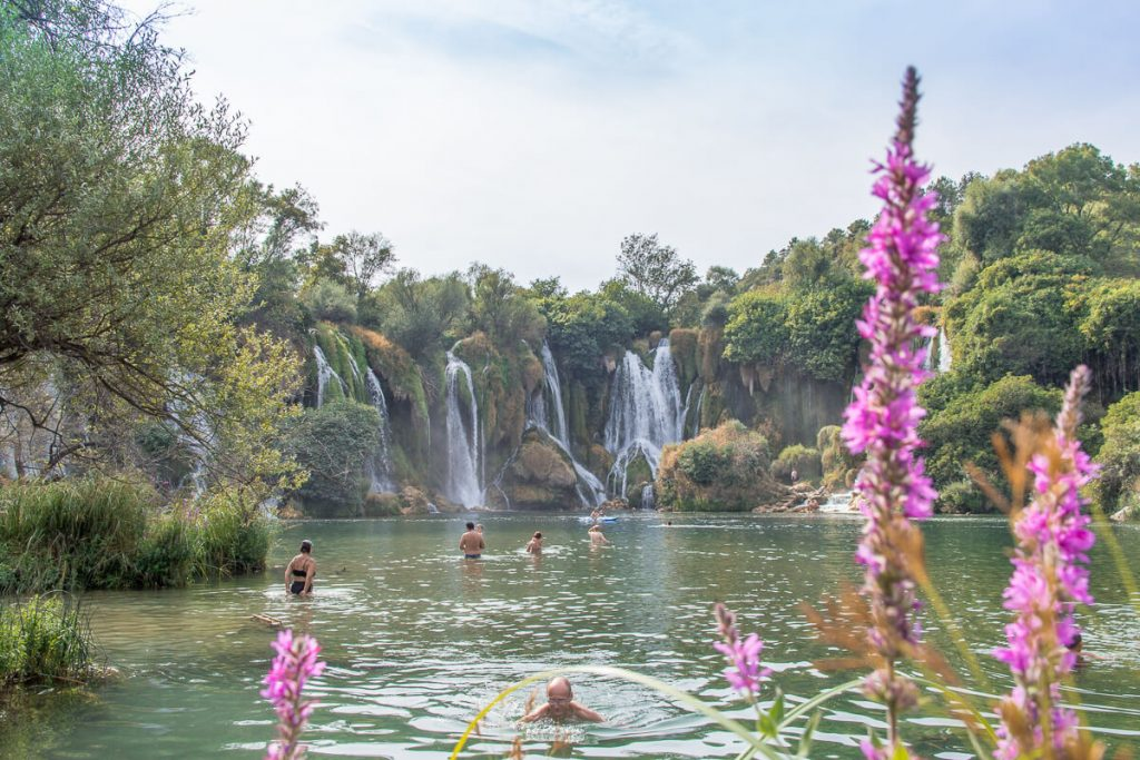 Kravica watervallen - zwemmen